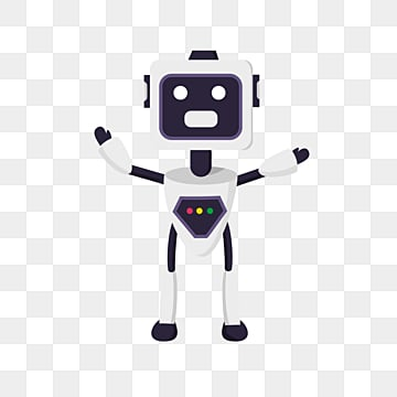 flat ai robot element illustration, Artificial Intelligence, Lovely, Flat PNG and PSD