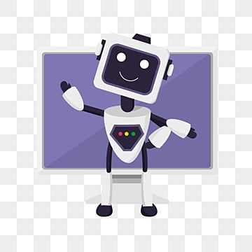 flat artificial intelligence robot computer element illustration, Artificial Intelligence, Screen, Flat PNG and PSD