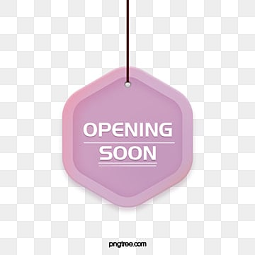 flat gradient colors  grand opening  simple style hanging label, Suspension, Label, Grand Opening PNG and PSD