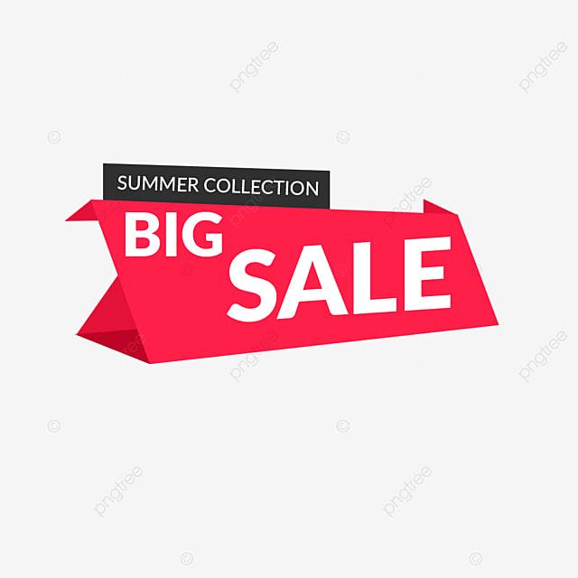Big Sale Label Summer Collection Tag Design, Banner, Sale