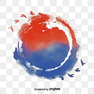 한국 태극기 평화 원소, 평화롭다, 태극기, 현충일 PNG 및 PSD
