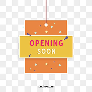 colour simple hanging square grand opening label, Geometric, Opening Soon, Business PNG and PSD