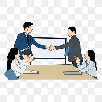 cooperate to negotiate professional character companys sketches, Character, Company, Cooperation PNG and PSD