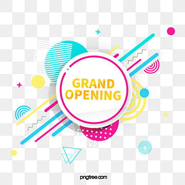 geometric label line opening element, Promotion, Geometric, Practice PNG and PSD