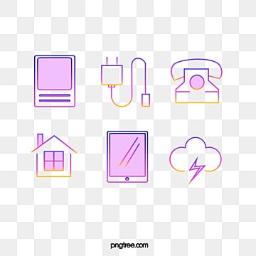 gradient color icon element illustration, Icon, Icon, Color PNG and PSD