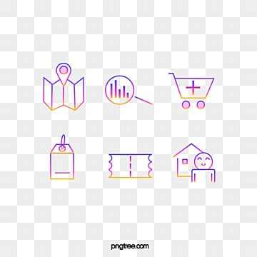 gradient color icon element illustration, Icon, Color, Gradient PNG and PSD