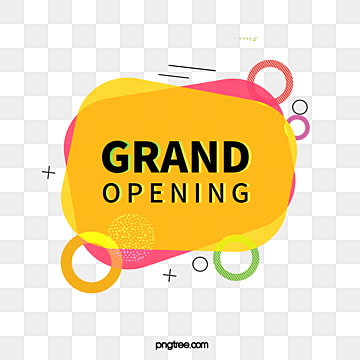 irregular geometric lines grand opening label, Element, Geometric, Circular PNG and PSD