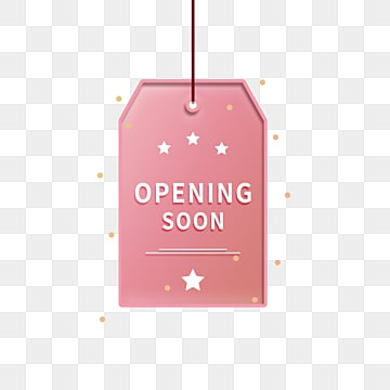 simple hanging square grand opening label, Promotion, Opening Soon, Business PNG and PSD