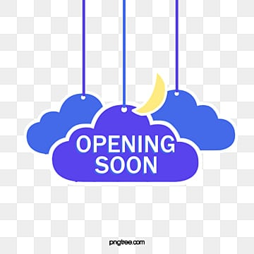 simple style hanging grand opening label, Flaky Clouds, Suspended Form, Hand Painted PNG and PSD