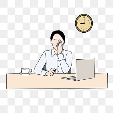 working persons overtime sleepy workplace sketches, Go To Work, Character, Company PNG and PSD