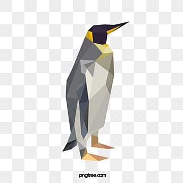 simple style of colorful polygonal animal penguins, Penguin, Element, Animal PNG and PSD