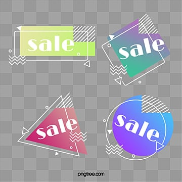 white border gradient geometric label elements, Element, Geometric, Label PNG and PSD