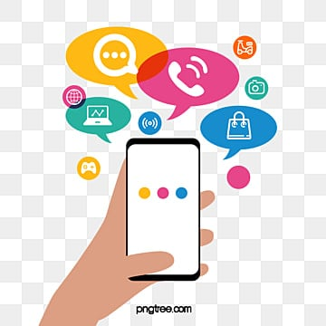 Creative Mobile Phone dialog Icon, Internet, Information, Information Box PNG and PSD