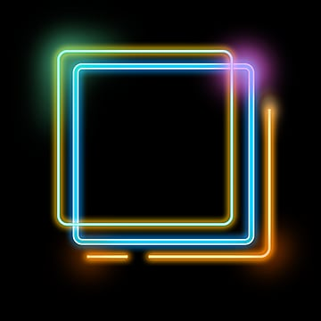 Double Layer Multi Layer Neon Lighting Effect Border, Light, Double-deck, Multi-storey PNG and PSD