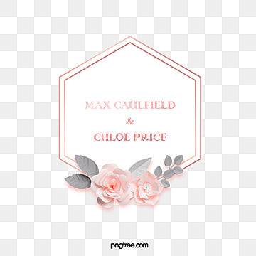 fresh rose gold hexagon border, Hexagon, Geometric, Leaf PNG and PSD