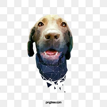 gradient polygon pet labrador dog, Animal, Polygon, Pets PNG and PSD