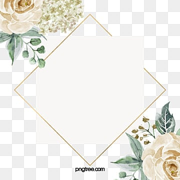 Classic floral frame, Frame, Floral, Flowers PNG and PSD