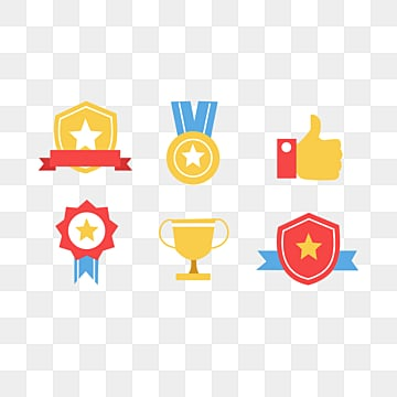 Color cartoon icon element illustration, Medal, Cartoon, Icon PNG and PSD