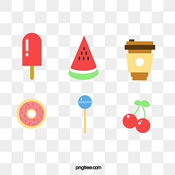 Colorful cartoon food icon element illustration, Cartoon, Coffee Cup, Icon PNG and PSD