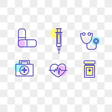 colorful fluorescent icon element illustration, Medicine, Icon, Color PNG and PSD