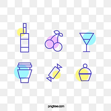 colorful fluorescent icon element illustration, Icon, Color, Simple PNG and PSD