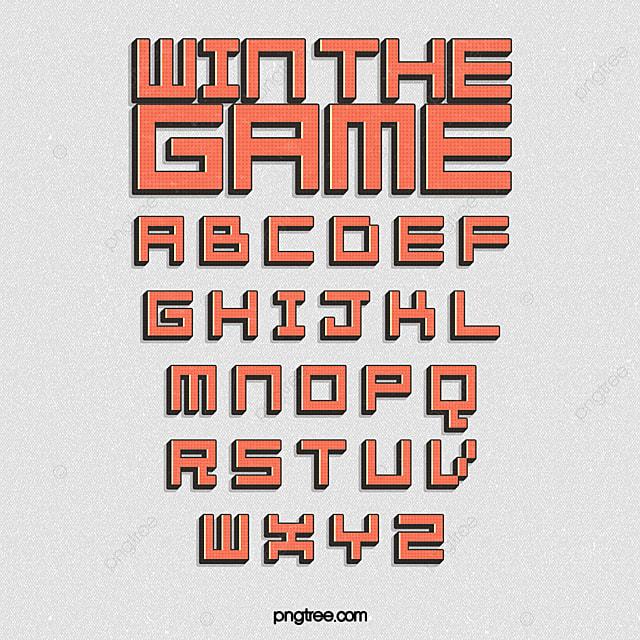 Design Of Pixel Alphabet For Cartoon Game Text Effect PSD