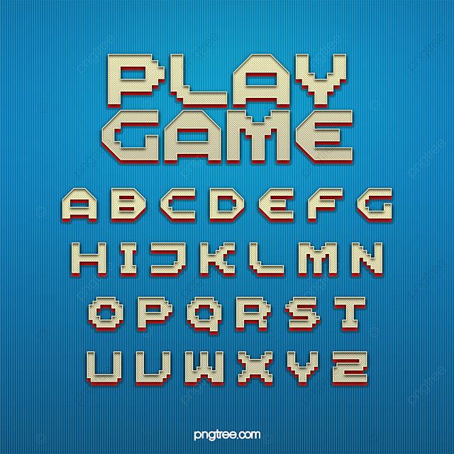 Fashion Three Dimensional Pixel Game Cartoon Art Word Design