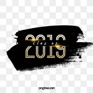 2019 graduation gold fonts design Fonts
