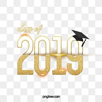 class of 2019 gold graduation 3d logo Fonts