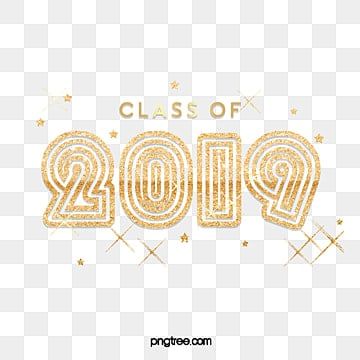 class of 2019 gold lettering with stars Fonts