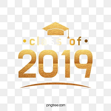 class of 2019 gold logo Fonts