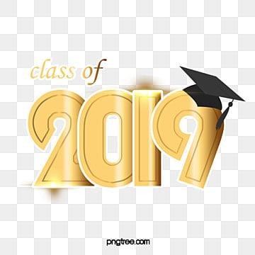 class of 2019 golden lettering Fonts