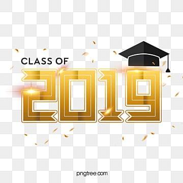 class of 2019 golden logo Fonts