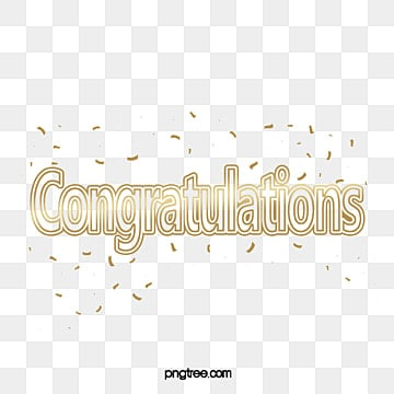 congratulations gold lettering with confetti Fonts