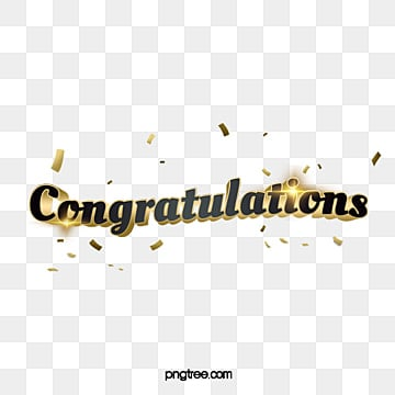 congratulations with golden confetti and ribbon Fonts