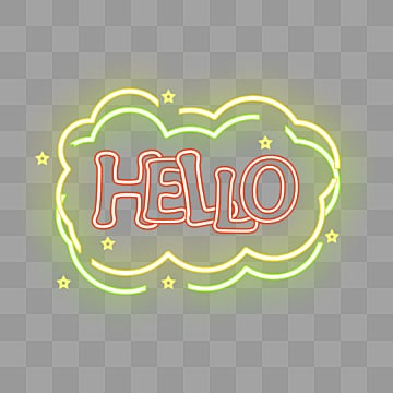 cute colour fluorescent dialogue bubbles, Hello, Lovely, Dialog Box PNG and PSD