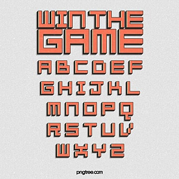 design of pixel alphabet for cartoon game Fonts