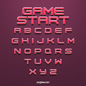 fashion stereo gradient game cartoon pixel alphabet Fonts