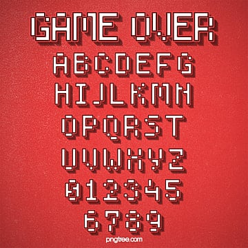 fashion three dimensional cartoon game style pixel alphabet Fonts