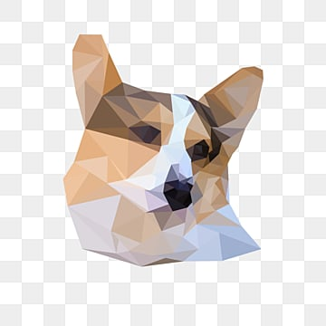 gradual creative polygon animal dog, Polygonal Animals, Gradient Polygon, Dog PNG and PSD