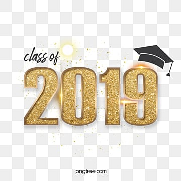 class of 2019 gold lettering Fonts