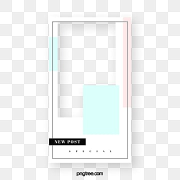 Simple color stitching advertising display frame, Instagram, Advertising Display Box, Color PNG and PSD