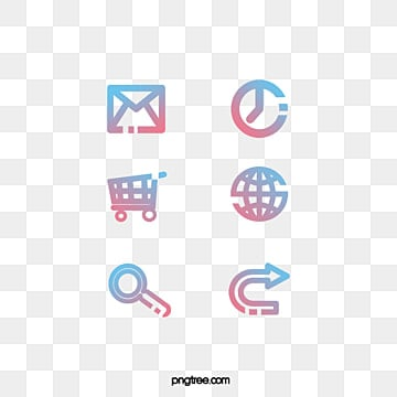 simple gradient line icon, Internet, Lovely, Icon PNG and PSD