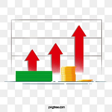 The Arrow of Currency and Upward Trend, Rise, Upward, Orange PNG and PSD