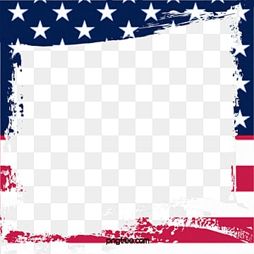 united states national flag frame, Us, America, United PNG and PSD