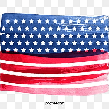 United States national flag hand paint, Us, America, United PNG and PSD