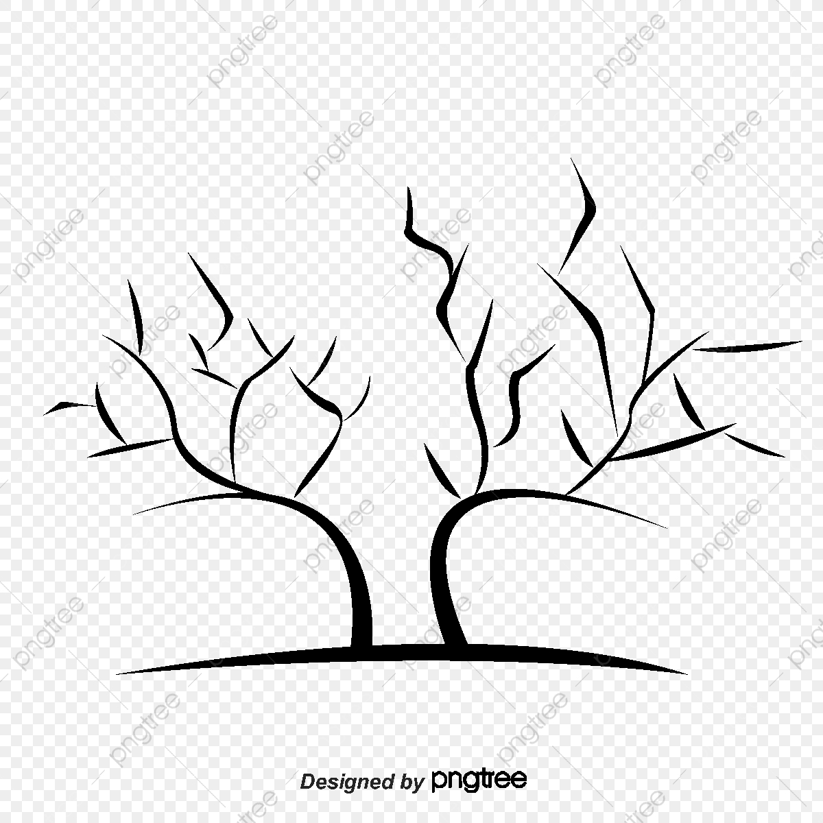 2017 Black Winter Tree Without Leaves Black 2017 Leaf Png Transparent Clipart Image And Psd File For Free Download