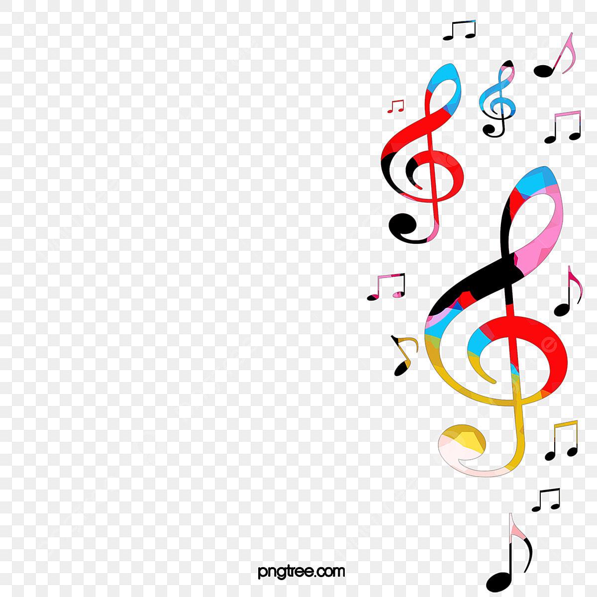 Des Notes De Musique De Fond La Note De Couleur La Musique