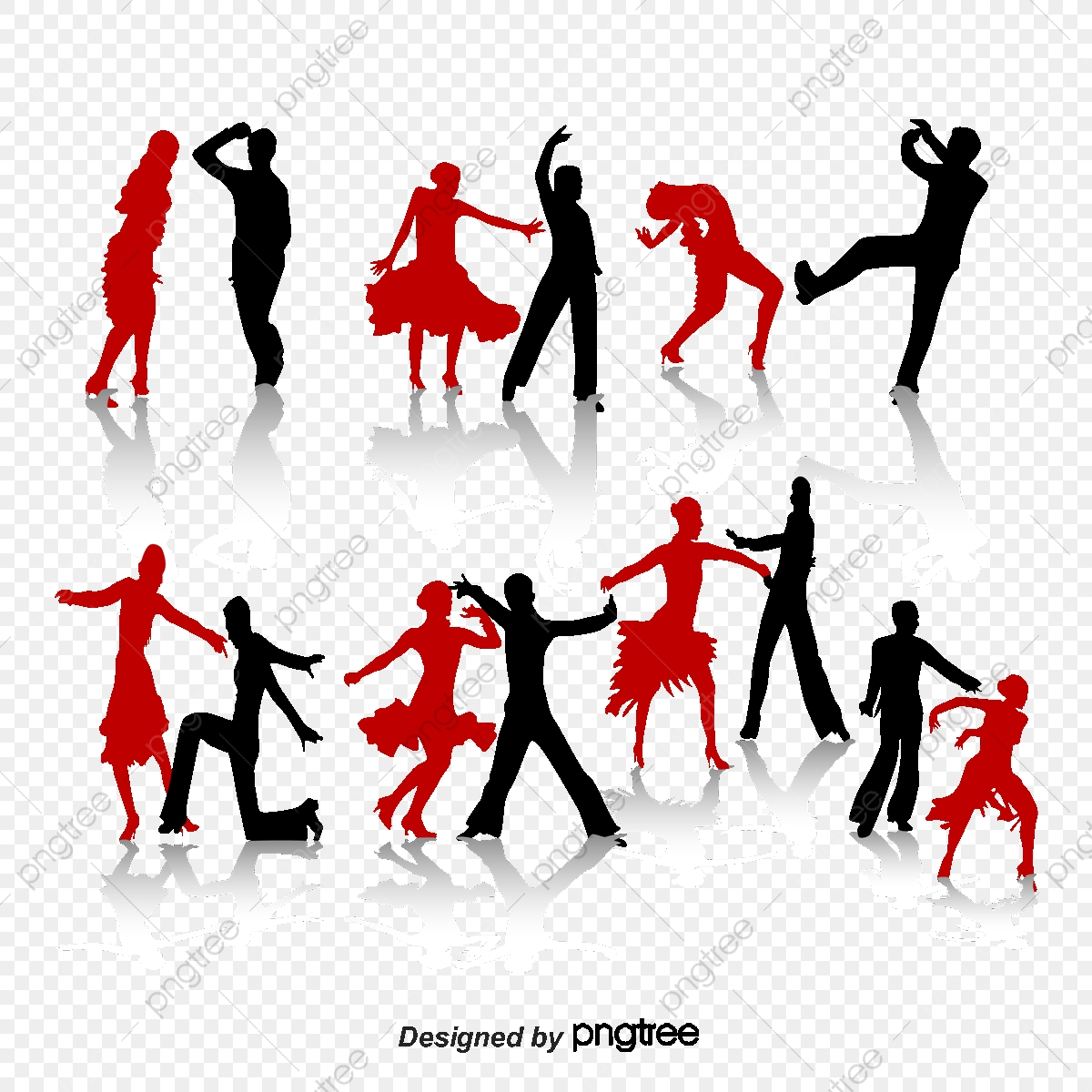 Ballroom Dance Action Figures Silhouette Vector Material Ballroom Dancing Action Dance Png Transparent Clipart Image And Psd File For Free Download