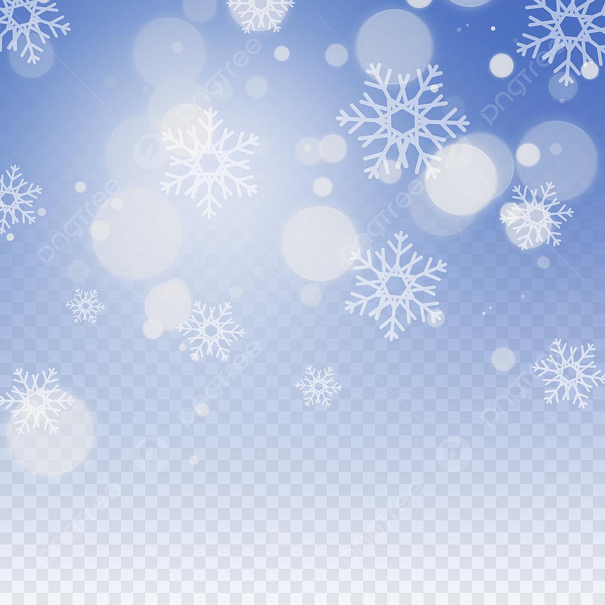 Màu Xanh Da Trời Tuyết Rơi Màu Xanh Rơi Bông Tuyết Miễn
